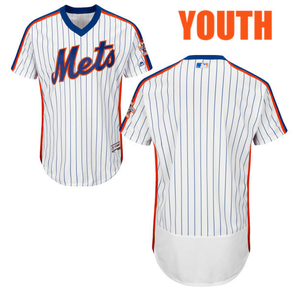 meet b261d 61054 Home Youth Flexbase Blank Blank White Authentic Majestic New York Mets  Baseball Jersey