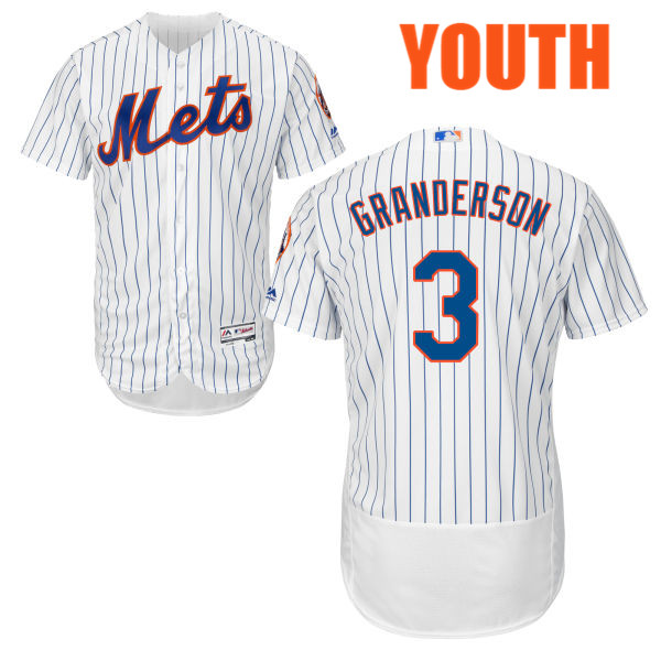 8445b7e0060 Youth Majestic Curtis Granderson no. 3 Flexbase Cool Base White Authentic  New York Mets Baseball