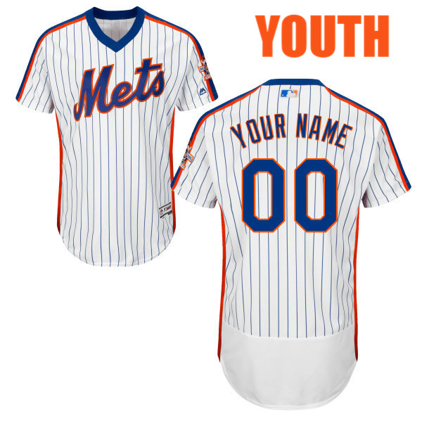0f32a208f Youth Home Customize Flexbase Customized White Authentic Majestic New York  Mets Baseball Jersey