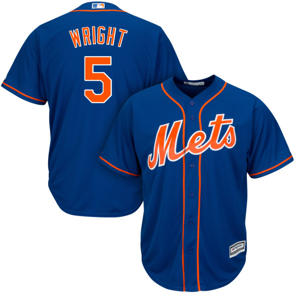 Mens David Wright no. 5 Alternate Royal Cool Base Authentic Majestic New York Mets Baseball Jersey - David Wright Jersey