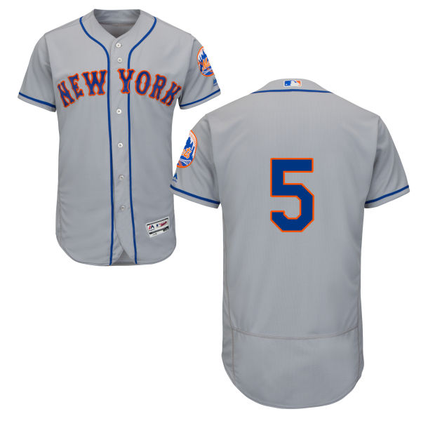 Mens David Wright no. 5 Flexbase Gray Authentic Road Majestic New York Mets Baseball Only Number Jersey - David Wright Jersey
