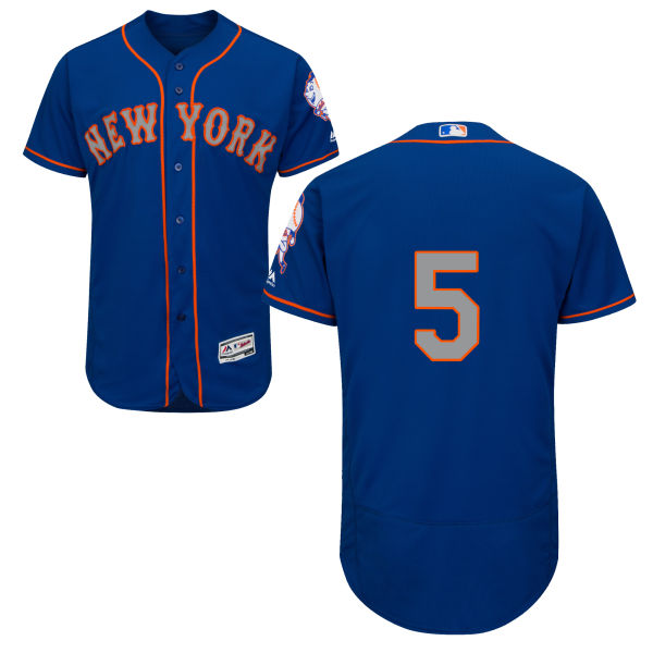 Mens David Wright Alternate no. 5 Flexbase Royal Authentic Majestic New York Mets Baseball Only Number Jersey - David Wright Jersey