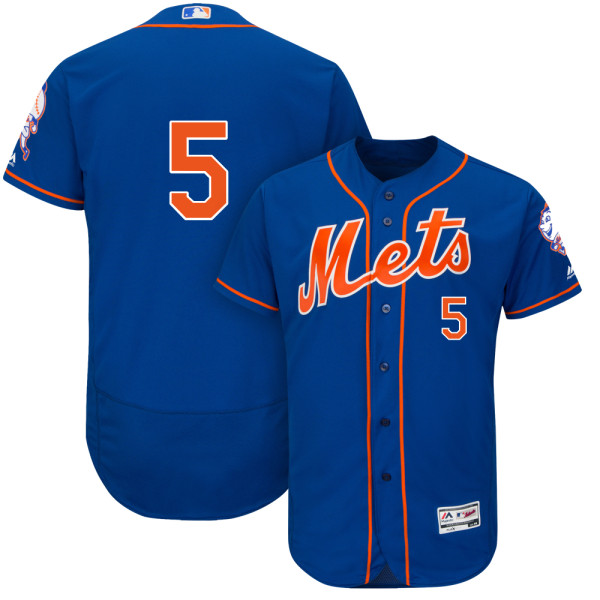 Mens David Wright no. 5 Royal Flexbase Cool Base Authentic Majestic New York Mets Baseball Only Number Jersey - David Wright Jersey