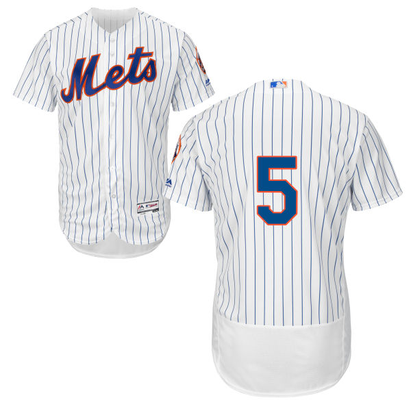 Mens Flexbase David Wright Majestic no. 5 White Authentic Cool Base New York Mets Baseball Only Number Jersey - David Wright Jersey