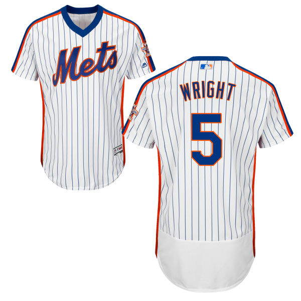 Home Mens David Wright Flexbase no. 5 Majestic White Authentic New York Mets Baseball Jersey