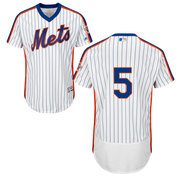 Mens Majestic David Wright Home no. 5 Flexbase White Authentic New York Mets Baseball Only Number Jersey - David Wright Jersey