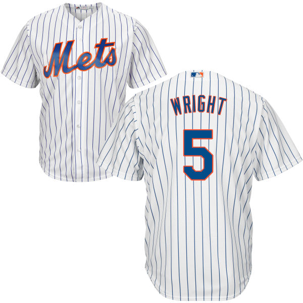 Mens David Wright no. 5 Cool Base White Home Authentic Majestic New York Mets Baseball Jersey - David Wright Jersey