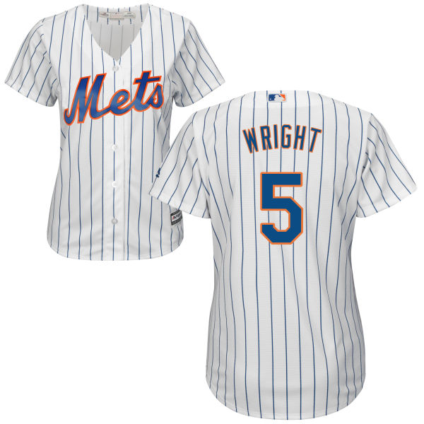 Home Womens David Wright no. 5 Majestic Cool Base White Authentic New York Mets Baseball Jersey - David Wright Jersey