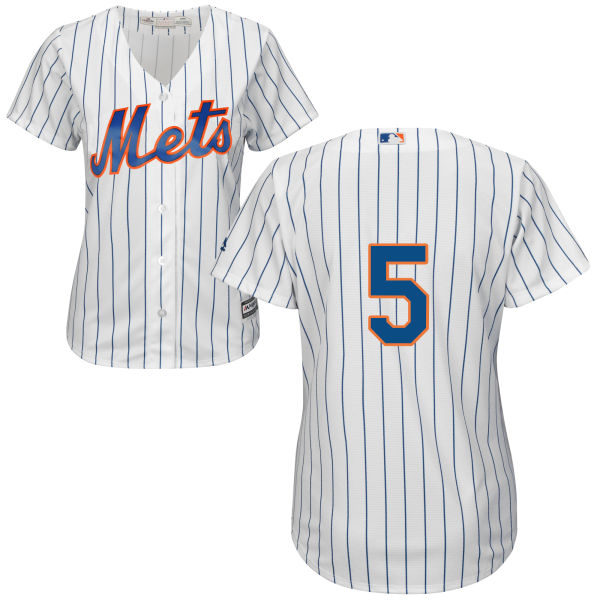 Womens Cool Base David Wright no. 5 White Majestic Authentic Home New York Mets Baseball Only Number Jersey - David Wright Jersey