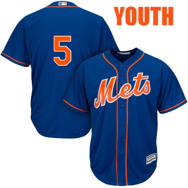 Youth Majestic David Wright no. 5 Royal Cool Base Alternate Authentic New York Mets Baseball Only Number Jersey - David Wright Jersey