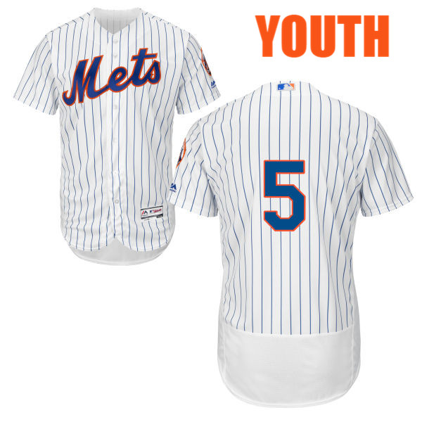 Youth David Wright no. 5 Majestic White Cool Base Authentic Flexbase New York Mets Baseball Only Number Jersey - David Wright Jersey