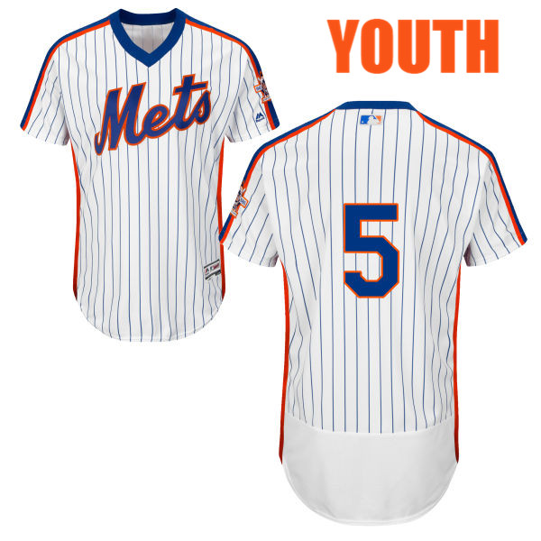 Youth Home David Wright no. 5 Majestic White Authentic Flexbase New York Mets Baseball Only Number Jersey - David Wright Jersey