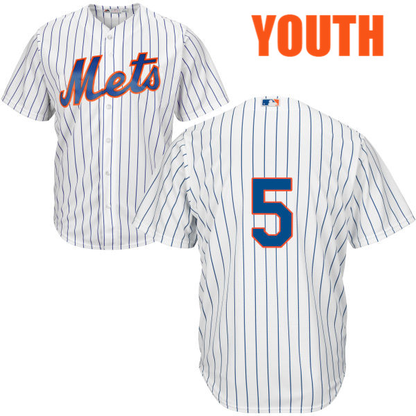 Youth Home Cool Base David Wright no. 5 White Majestic Authentic New York Mets Baseball Only Number Jersey - David Wright Jersey