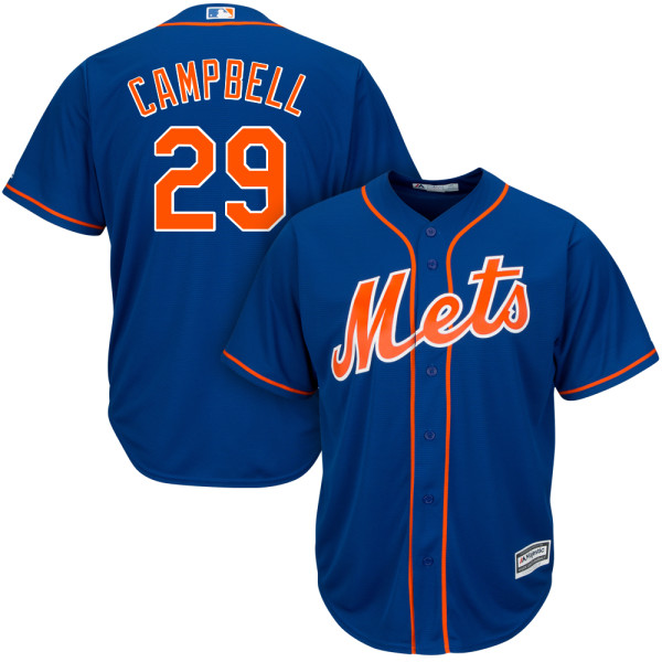 9370075f00d Cool Base Mens Alternate Eric Campbell Majestic no. 29 Royal Authentic New  York Mets Baseball Jersey