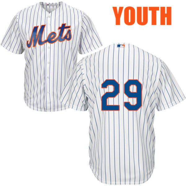 0579c680e Youth Home Eric Campbell Cool Base no. 29 Majestic White Authentic New York  Mets Baseball Only Number Jersey - New York Mets Fanatics