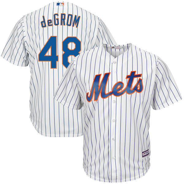 8d8877f7f Mens Home Jacob deGrom no. 48 White Cool Base Authentic Majestic New York  Mets Baseball Jersey