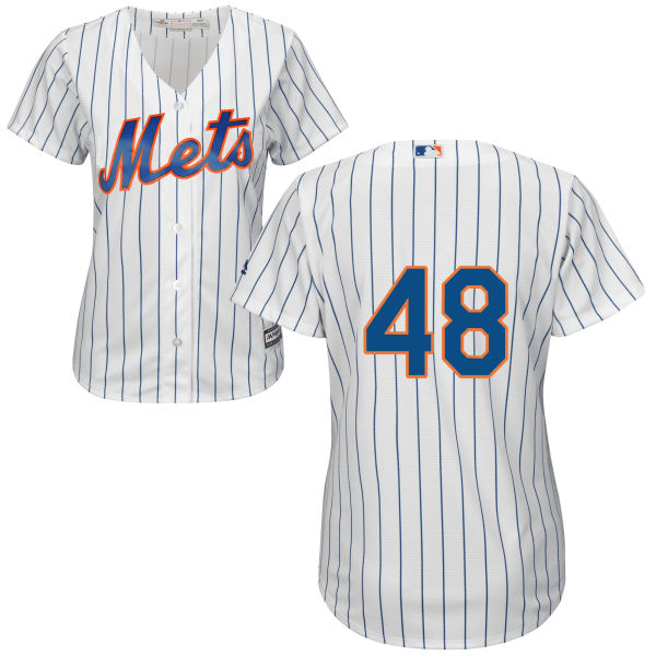 8c6ec5c37 Womens Jacob deGrom Home no. 48 White Majestic Authentic Cool Base New York  Mets Baseball Only Number Jersey - New York Mets Fanatics