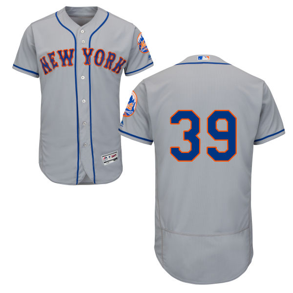 Mens Majestic Jerry Blevins Road no. 39 Gray Flexbase Authentic New York Mets Baseball Only Number Jersey - Jerry Blevins Jersey