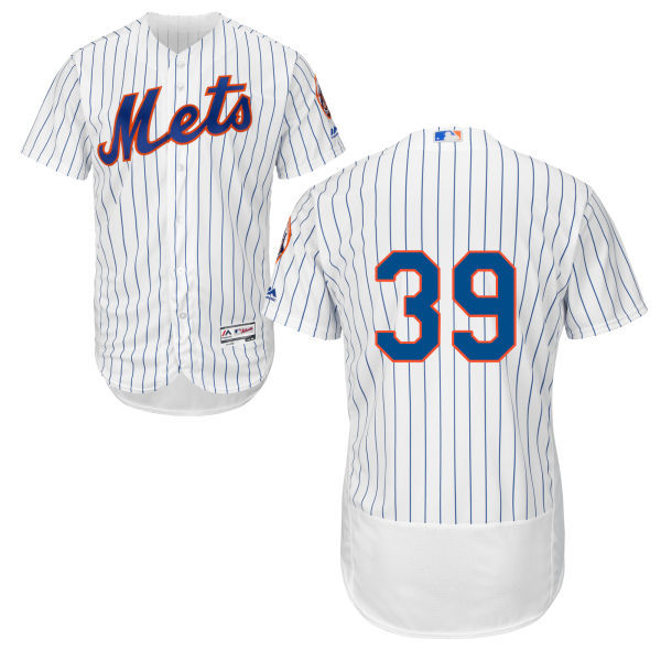Mens Cool Base Jerry Blevins Flexbase no. 39 White Majestic Authentic New York Mets Baseball Only Number Jersey - Jerry Blevins Jersey