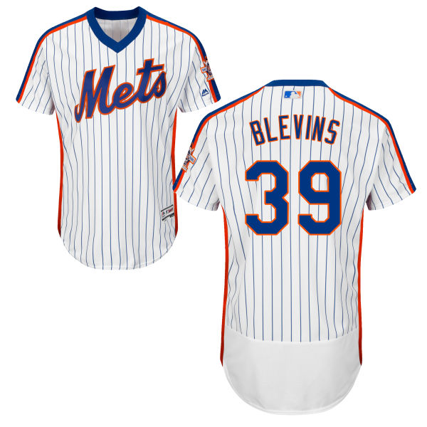 Mens Jerry Blevins Flexbase no. 39 Home White Authentic Majestic New York Mets Baseball Jersey - Jerry Blevins Jersey