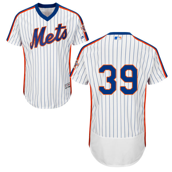 Mens Jerry Blevins Home Majestic no. 39 Flexbase White Authentic New York Mets Baseball Only Number Jersey - Jerry Blevins Jersey