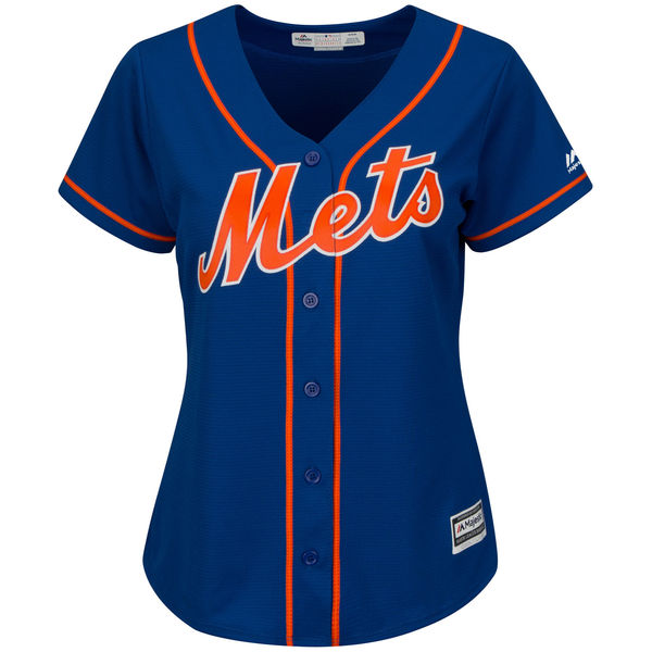 Majestic Womens Jerry Blevins no. 39 Royal Authentic Alternate Cool Base New York Mets Baseball Jersey - Jerry Blevins Jersey