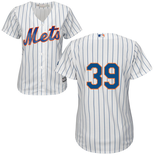 Majestic Womens Cool Base Jerry Blevins no. 39 White Authentic Home New York Mets Baseball Only Number Jersey - Jerry Blevins Jersey
