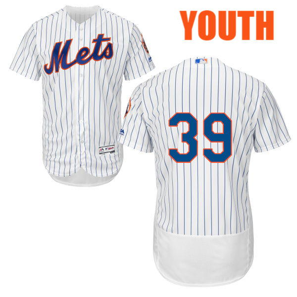 Youth Flexbase Jerry Blevins no. 39 White Authentic Majestic Cool Base New York Mets Baseball Only Number Jersey - Jerry Blevins Jersey