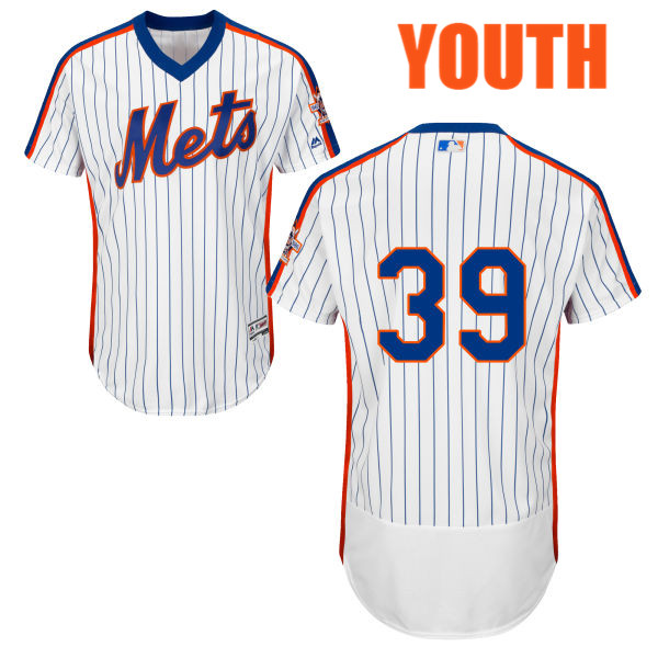 Youth Jerry Blevins Home no. 39 White Flexbase Authentic Majestic New York Mets Baseball Only Number Jersey - Jerry Blevins Jersey