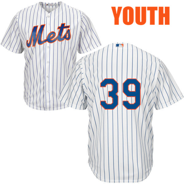 Youth Majestic Jerry Blevins no. 39 Home White Authentic Cool Base New York Mets Baseball Only Number Jersey - Jerry Blevins Jersey