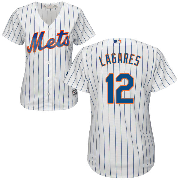 brand new a03c9 aa816 Womens Cool Base Juan Lagares no. 12 Majestic White Authentic Home New York  Mets Baseball Jersey