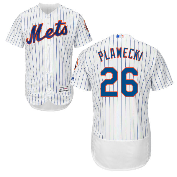 924f13718 Mens Cool Base Kevin Plawecki Flexbase no. 26 Majestic White Authentic New  York Mets Baseball