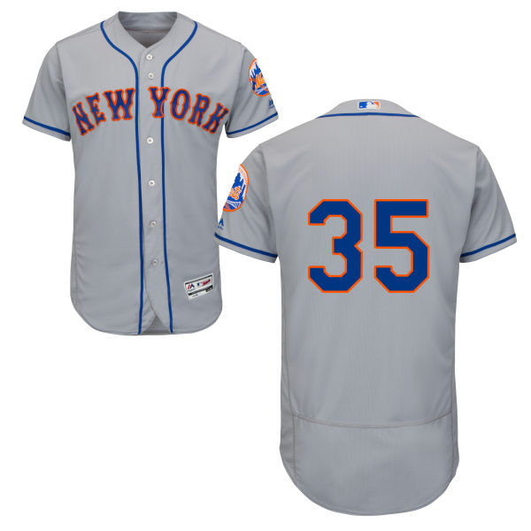 on sale 24688 1af39 Mens Majestic Logan Verrett no. 35 Gray Flexbase Authentic Road New York  Mets Baseball Only Number Jersey