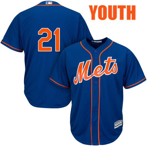 Youth Cool Base Lucas Duda Alternate no. 21 Royal Authentic Majestic New  York Mets Baseball Only Number Jersey ... 0a8868544