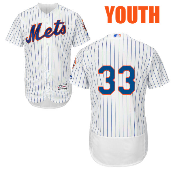 half off edbf2 f496d Cool Base Youth Matt Harvey no. 33 White Flexbase Authentic Majestic New  York Mets Baseball Only Number Jersey