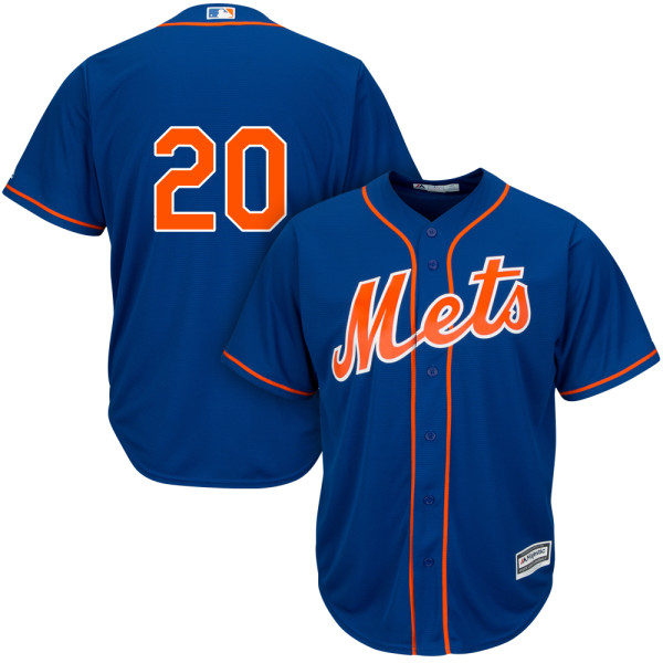 Mens Cool Base Neil Walker Majestic no. 20 Alternate Royal Authentic New York Mets Baseball Only Number Jersey - Neil Walker Jersey