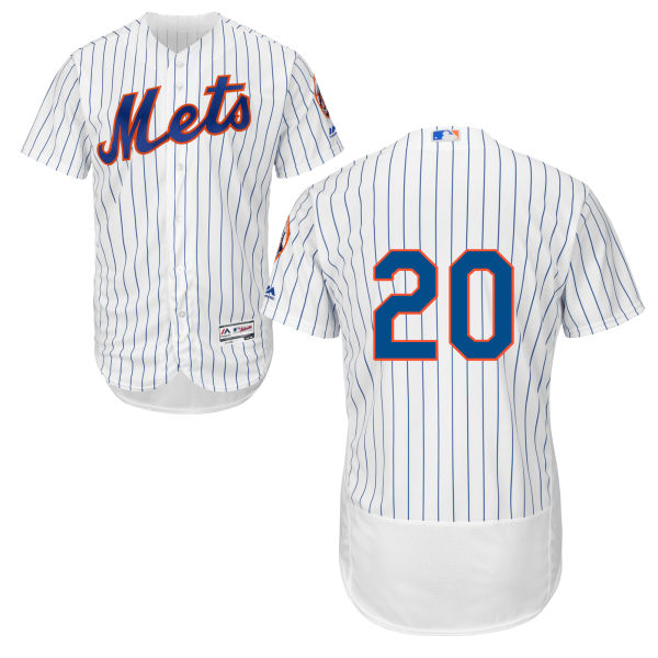 Mens Majestic Neil Walker no. 20 Cool Base White Authentic Flexbase New York Mets Baseball Only Number Jersey - Neil Walker Jersey