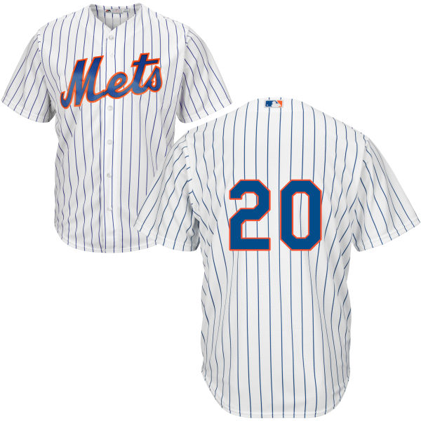 Mens Neil Walker no. 20 Home White Majestic Authentic Cool Base New York Mets Baseball Only Number Jersey - Neil Walker Jersey