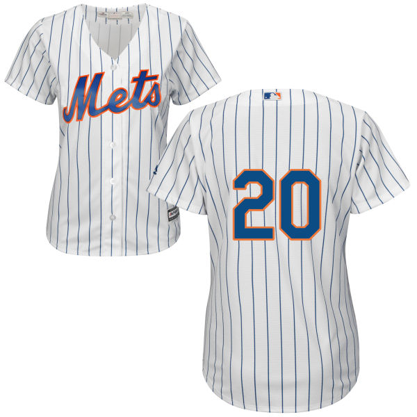 Womens Neil Walker Home no. 20 White Majestic Authentic Cool Base New York Mets Baseball Only Number Jersey - Neil Walker Jersey