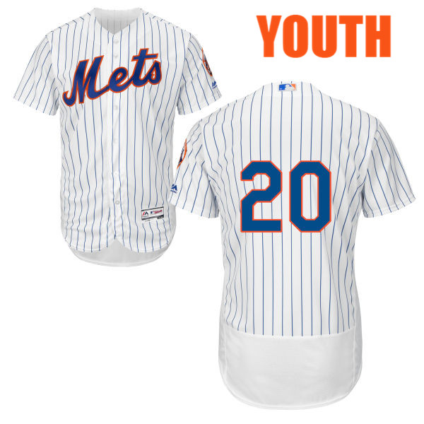Youth Neil Walker Cool Base no. 20 White Flexbase Authentic Majestic New York Mets Baseball Only Number Jersey - Neil Walker Jersey
