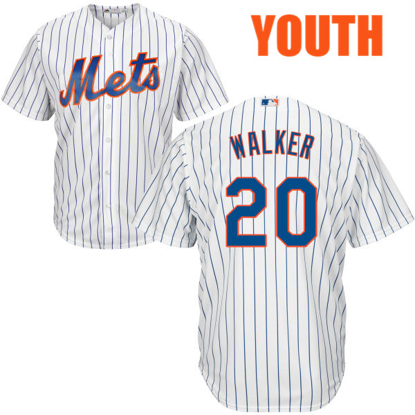 Youth Home Neil Walker Majestic no. 20 White Cool Base Authentic New York Mets Baseball Jersey - Neil Walker Jersey