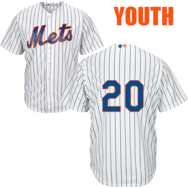 Youth Neil Walker Majestic no. 20 Cool Base White Home Authentic New York Mets Baseball Only Number Jersey - Neil Walker Jersey