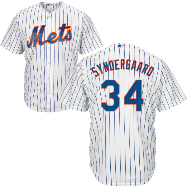 huge discount 13871 929ba Mens Noah Syndergaard Home Cool Base no. 34 Majestic White Authentic New  York Mets Baseball Jersey