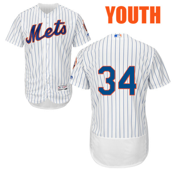 new styles 3a0dd 03f66 Youth Noah Syndergaard no. 34 Flexbase White Majestic Authentic Cool Base  New York Mets Baseball Only Number Jersey