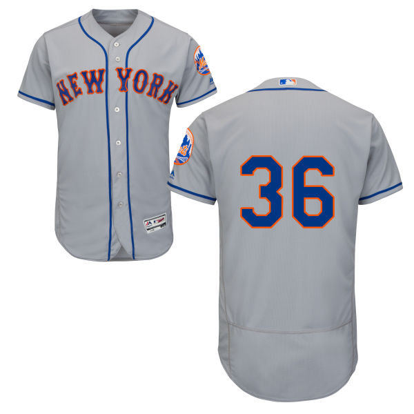 Mens Road Sean Gilmartin Majestic no. 36 Gray Authentic Flexbase New York Mets Baseball Only Number Jersey - Sean Gilmartin Jersey