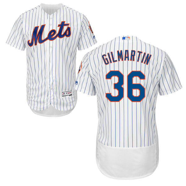 Flexbase Mens Sean Gilmartin Cool Base no. 36 White Authentic Majestic New York Mets Baseball Jersey - Sean Gilmartin Jersey