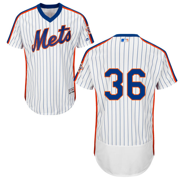 Mens Sean Gilmartin Home no. 36 White Flexbase Authentic Majestic New York Mets Baseball Only Number Jersey - Sean Gilmartin Jersey