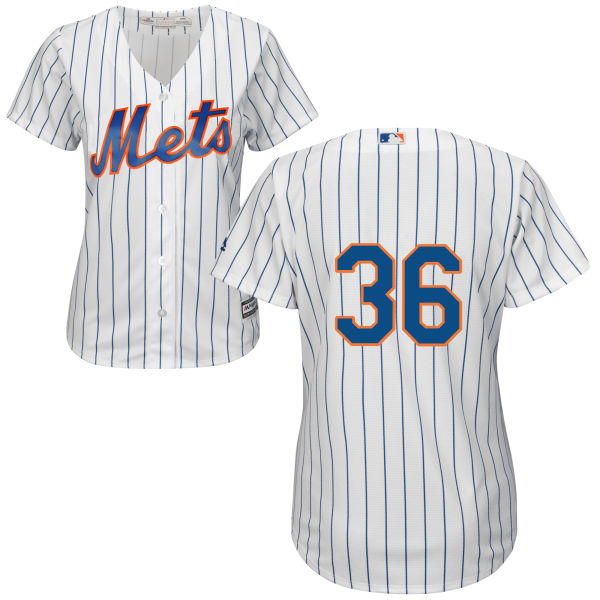 Womens Sean Gilmartin Cool Base no. 36 Majestic White Home Authentic New York Mets Baseball Only Number Jersey - Sean Gilmartin Jersey