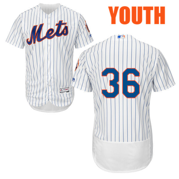 Flexbase Youth Cool Base Sean Gilmartin no. 36 White Authentic Majestic New York Mets Baseball Only Number Jersey - Sean Gilmartin Jersey