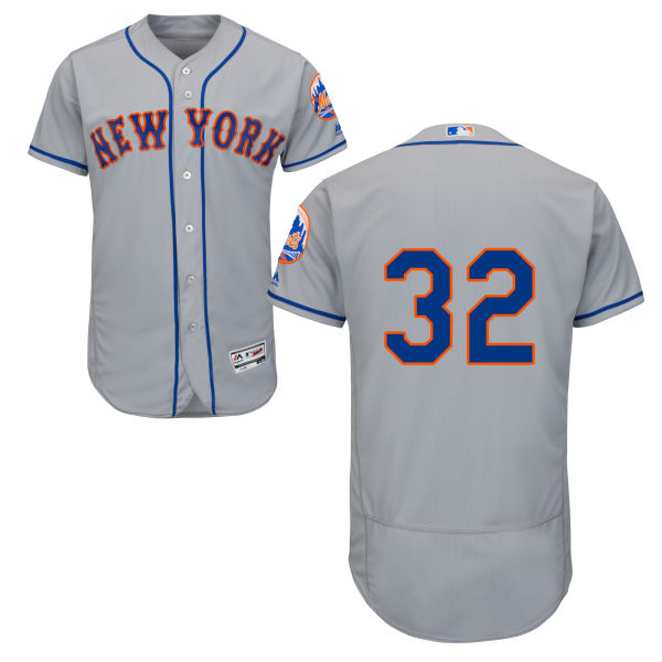 Mens Steven Matz no. 32 Flexbase Road Gray Majestic Authentic New York Mets Baseball Only Number Jersey - Steven Matz Jersey